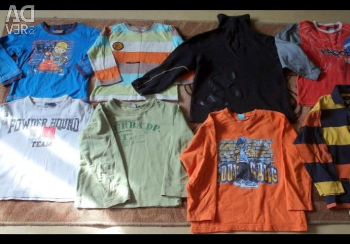T-shirts for long and short sleeves