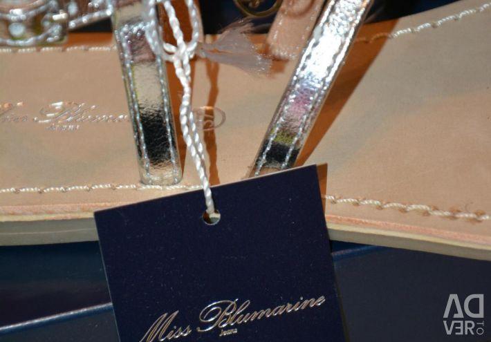 New Blumarine Sandals Italy Swarovski