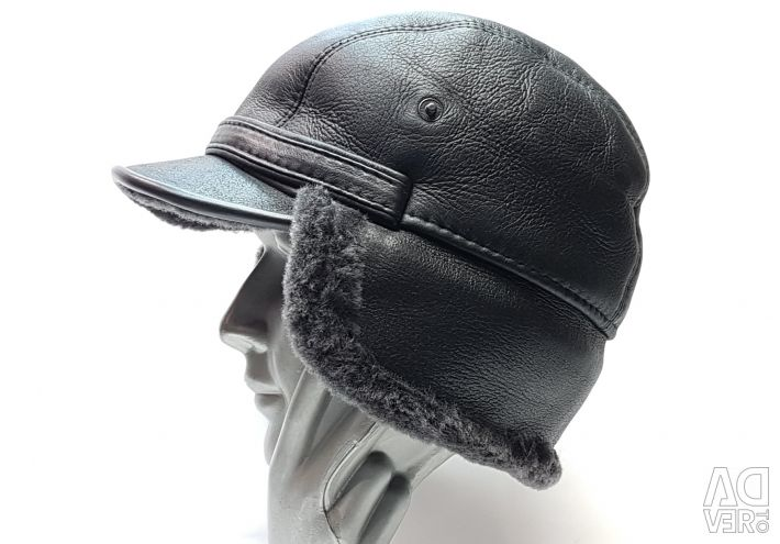 Cap with earflaps fur S3 sheepskin