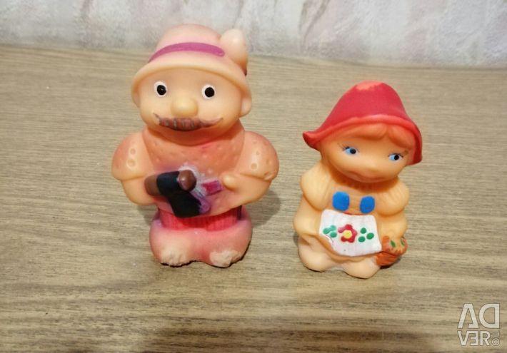 Резиновые игрушки из набора Красная шапочка СССР