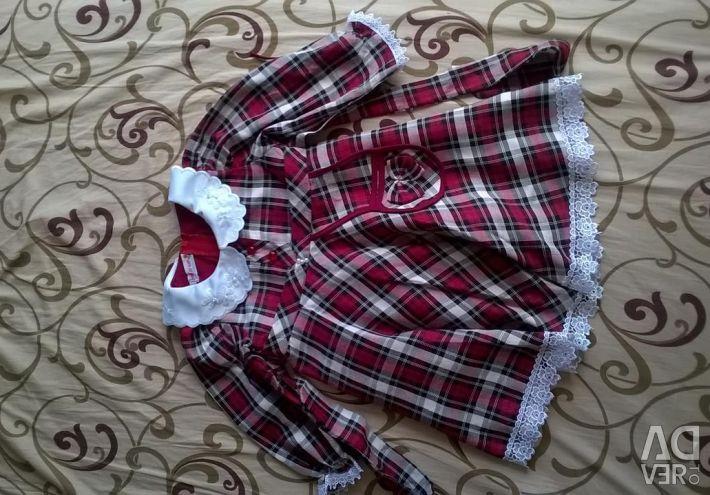 Check dress, new