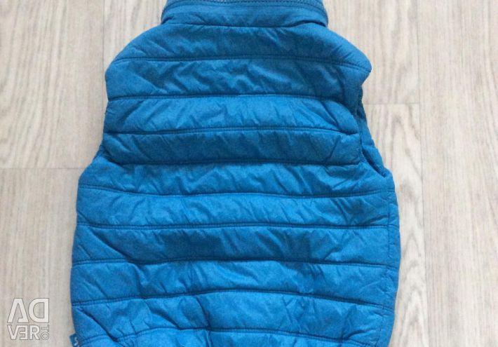Button Blue Vest 98 size