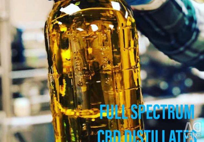 Чистый порошок изолята CBD и Full Spectrum CBD Dist