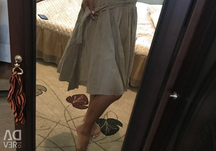 The skirt is dressed a couple of times