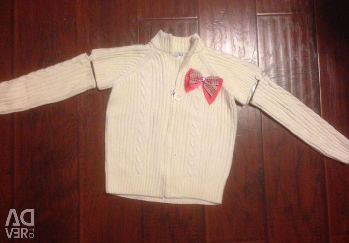 New vest jacket, sleeves unfasten. Growth 110