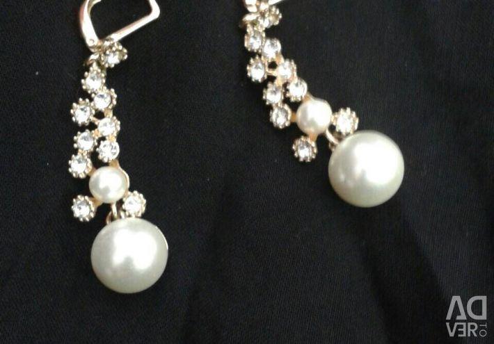 Gilding earrings