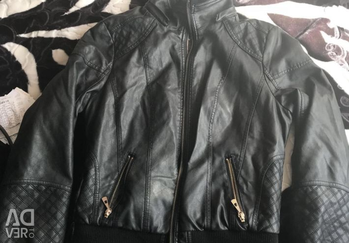 Winter leather jacket