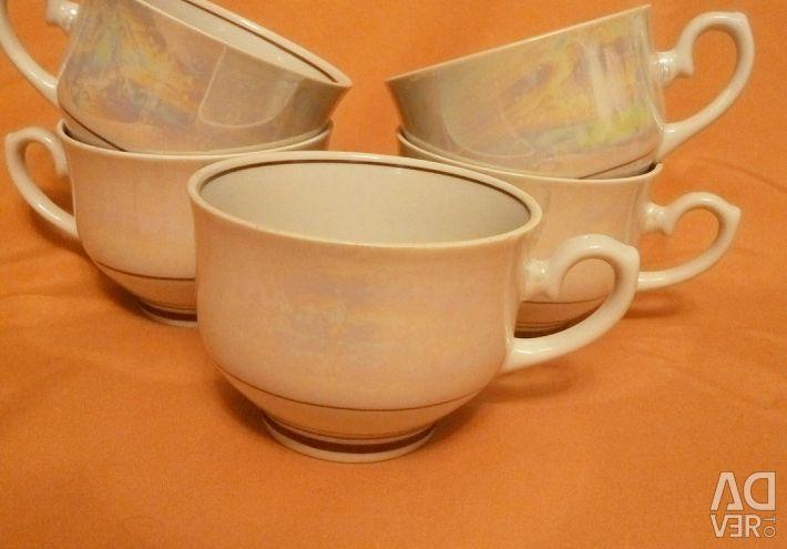 Cups (Minsk Porcelain Factory, 1970s)