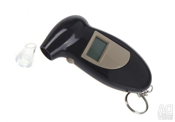 Breathalyzer with LCD and backlight