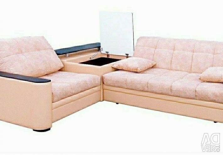 Corner sofa Takho 3 with bar