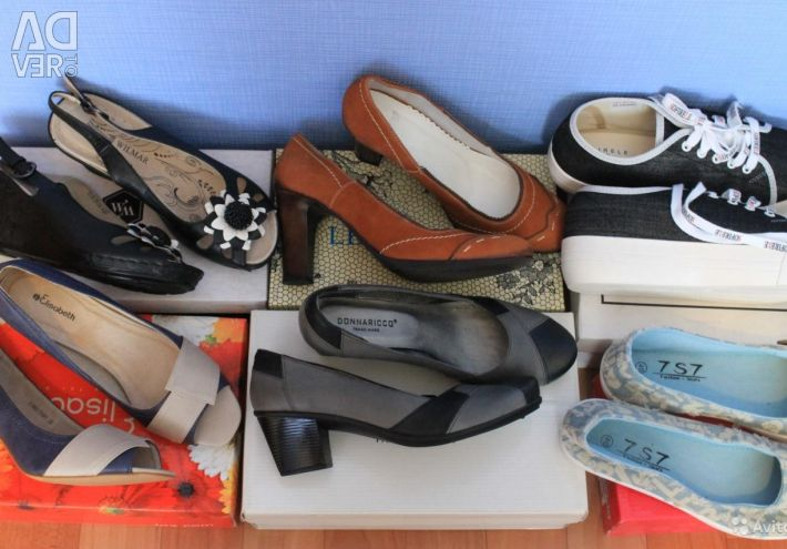 Many new shoes