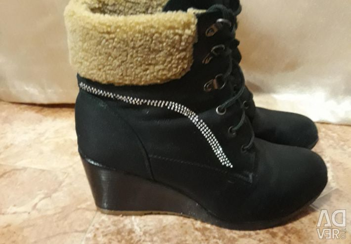 Ankle boots suede boots winter women's boots