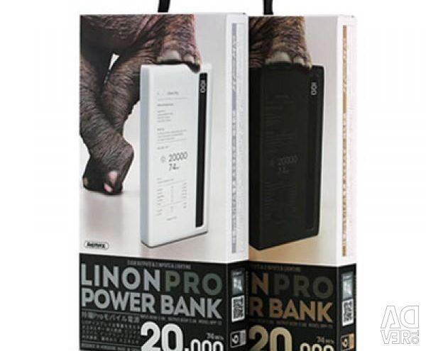 Ο φορητός συσσωρευτής Remax Linon Pro 20000 chern