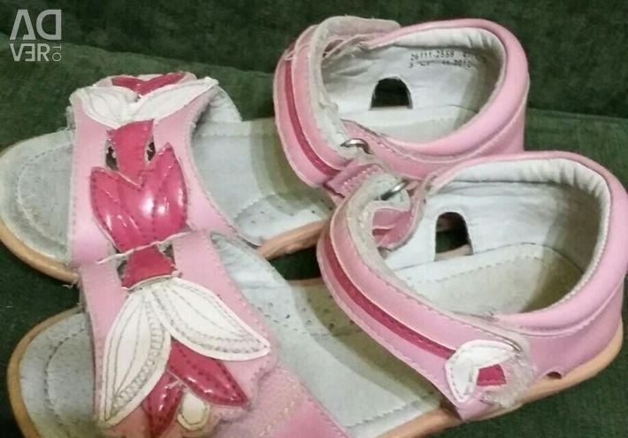 Sandals, leather sandals