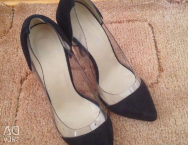 Туфли замшевые 35,5-36 р