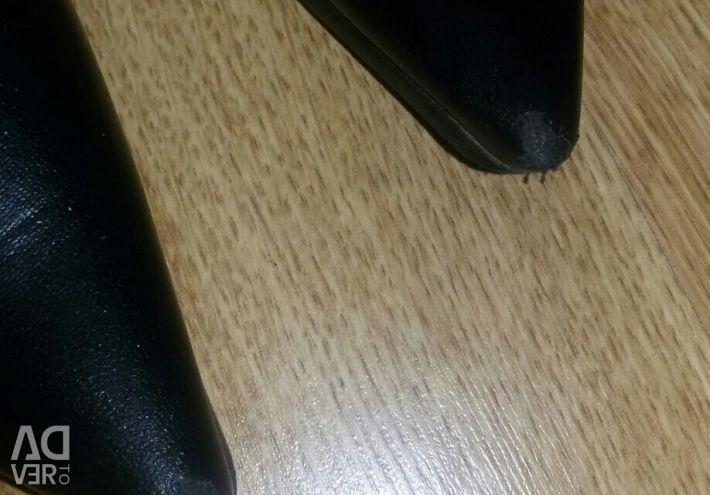 Boots black heel 9 cm 38 size