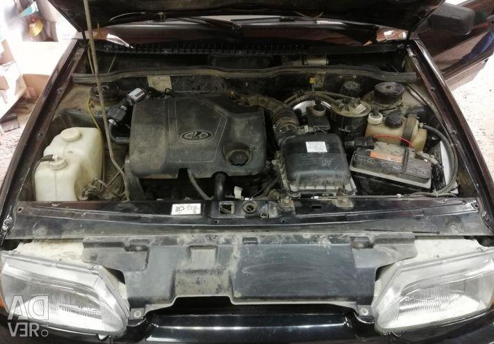 Lada Vaz 2114 translation of a car on gas