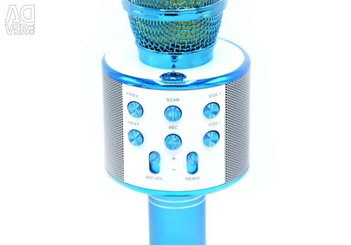 Karaoke microphone with speaker WS-858 (blue)