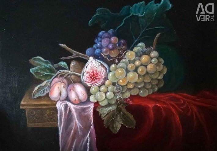 Картина натюрморт в технике старых мастеров