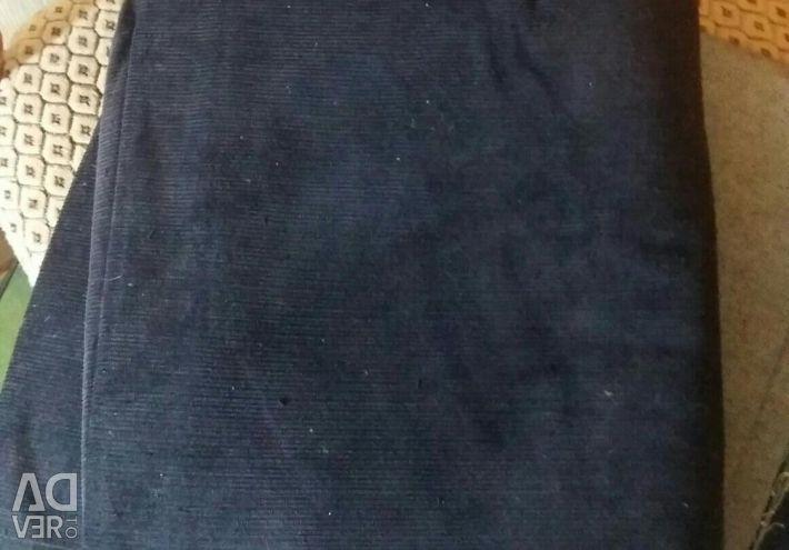 Fabric corduroy. Cut. Black color. There is Bordeaux.
