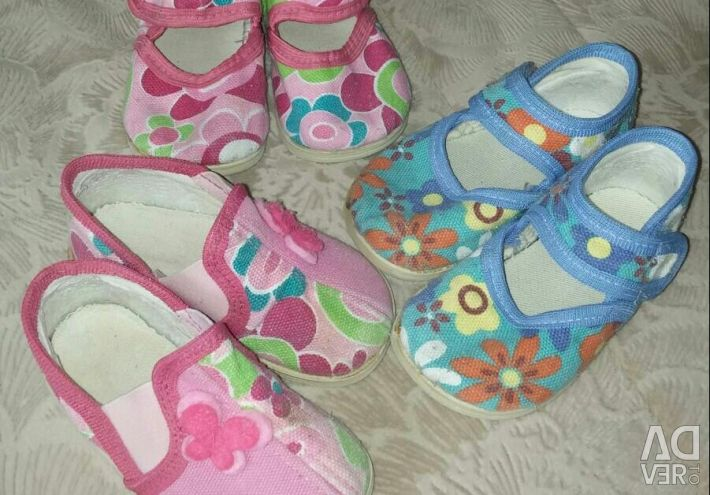 Sandals for the house, strollers. Shoes