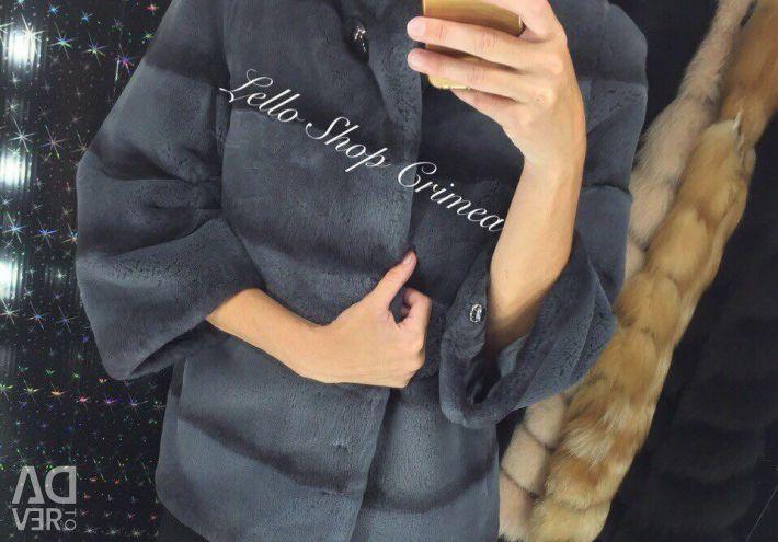 Fur coat from natural fur