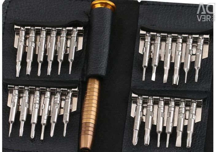 A set of mini screwdrivers for the computer.