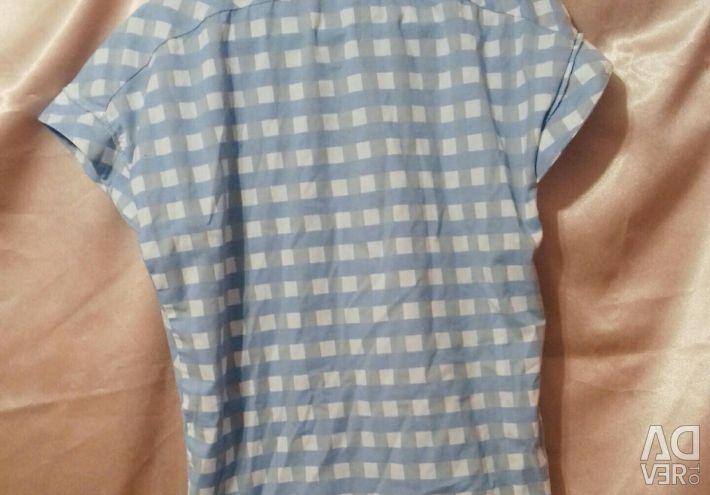 Ekoseli koton bluz