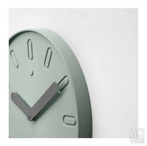 Ρολόι τοίχου, πράσινο, μεγάλο. 35 εκ. Σουηδία.