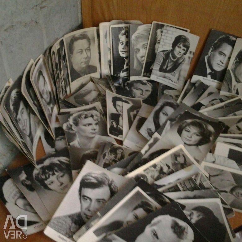 Продать коллекцию открыток артистов, конен