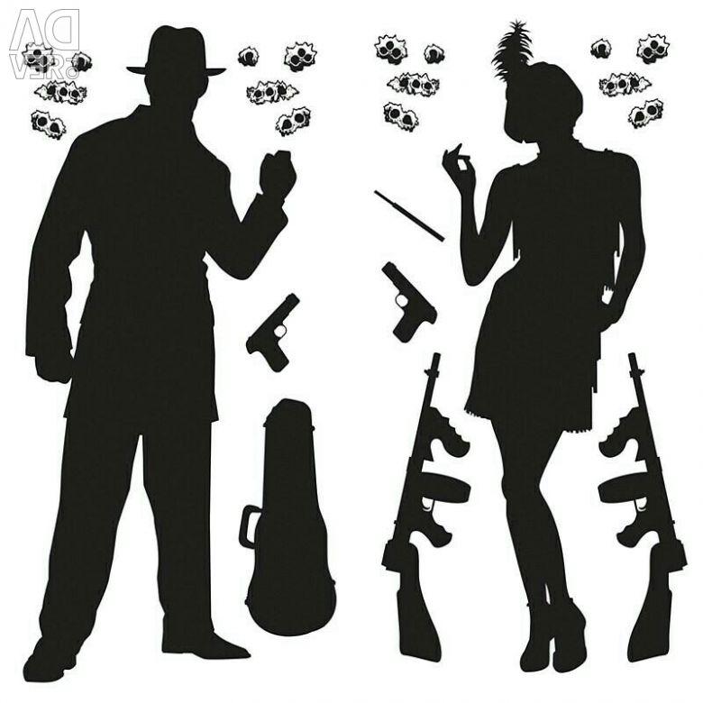 Открытки оформление, открытка в гангстерском стиле