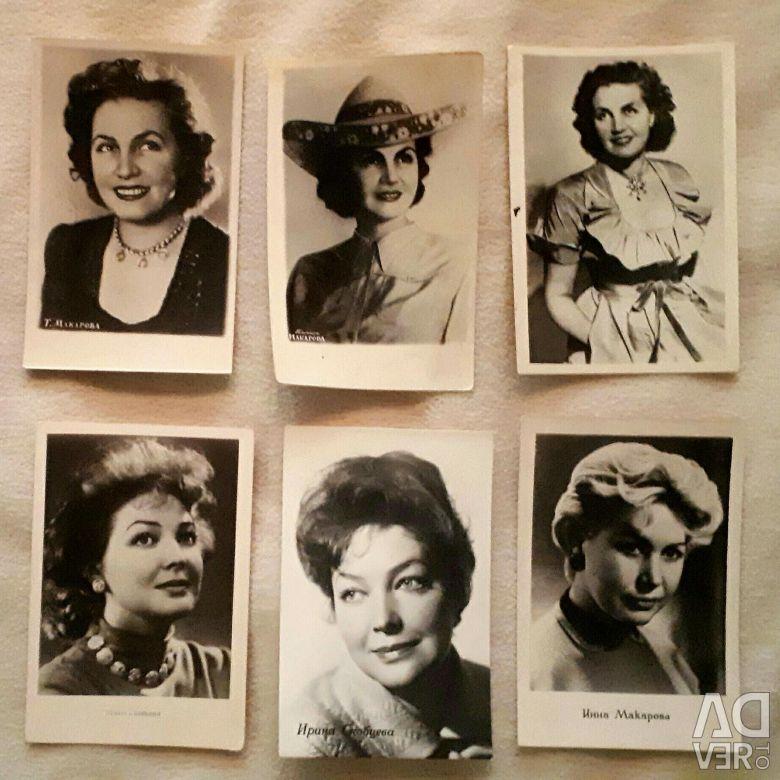 Почтовые открытки актеров