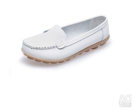 Leather moccasins, sizes and colors are different