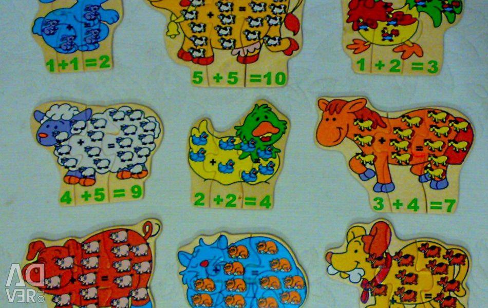 Copac puzzle-uri de animale