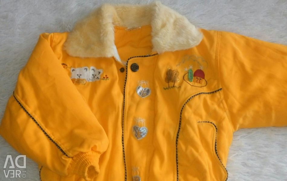 A new jacket for a child 3-5 years old