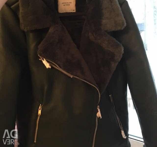 New demi-season sheepskin coat