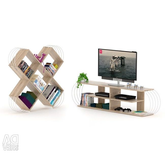 SET 2TM CASE LIBRARY & FURNITURE TV HM10292