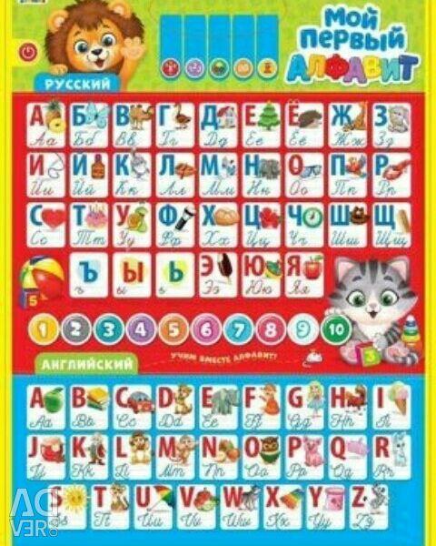 Η αφίσα που διδάσκει ρωσικά-αγγλικά
