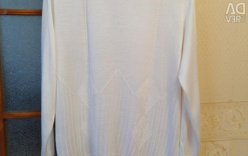 Λευκό πουλόβερ βισκόζ