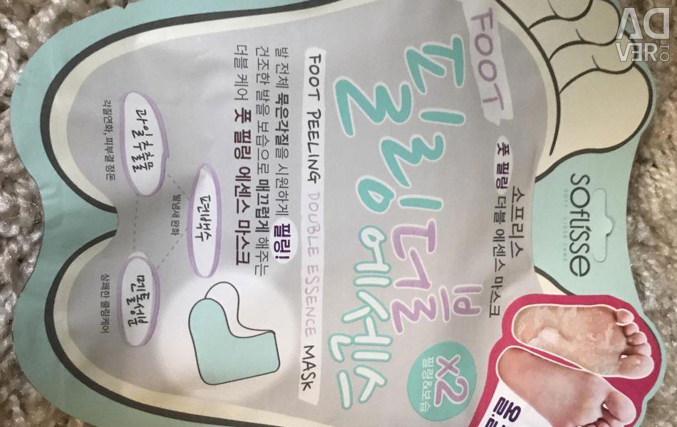 Корейская маска для ног скраб