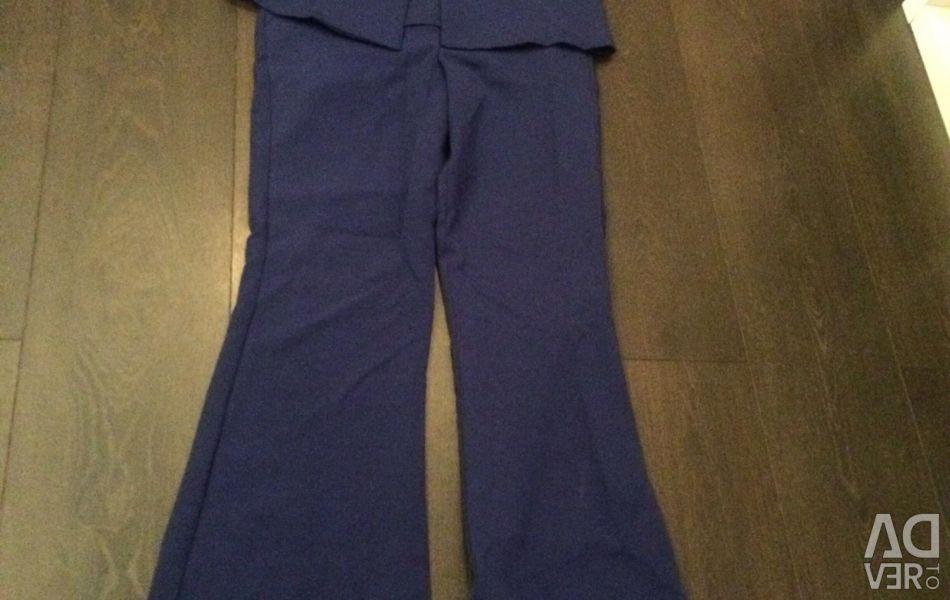 Костюм Жилетка +брюки клеши