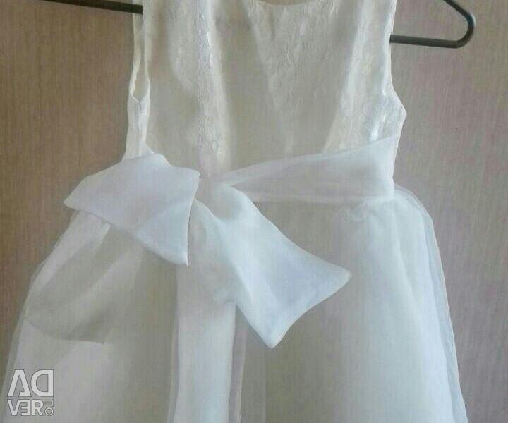 Festive white dress 116