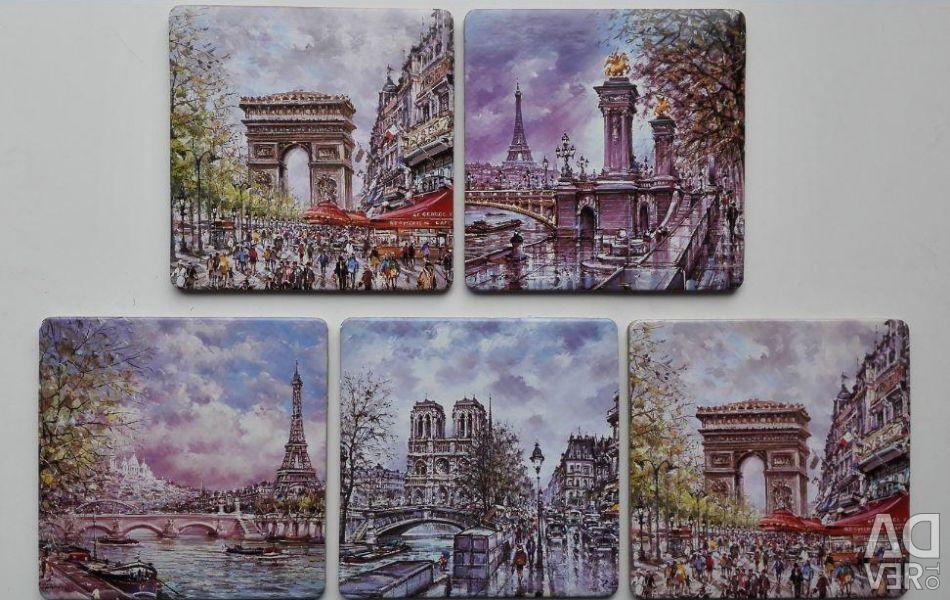 Coasters for glasses Paris