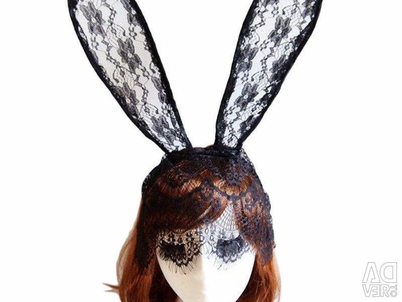Ears hare with a veil