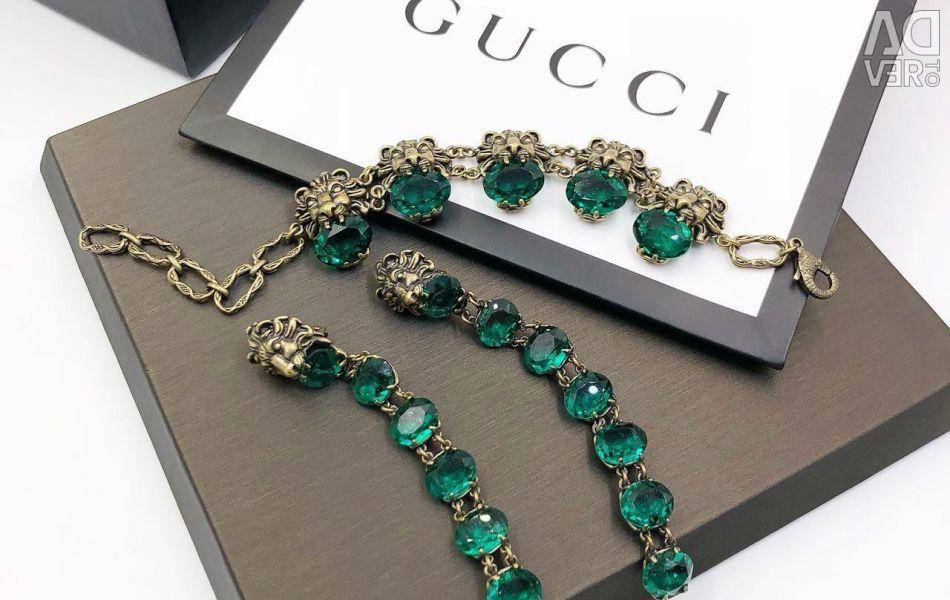 Lüks Küpe ve Gucci bileklik Luxxx