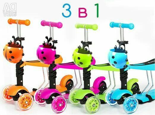 3'ü 1 arada scooter
