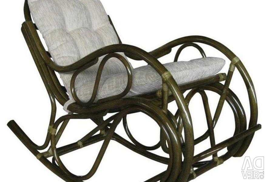 Κουνιστή καρέκλα μπαστούνι με φουσκωτό μαξιλάρι