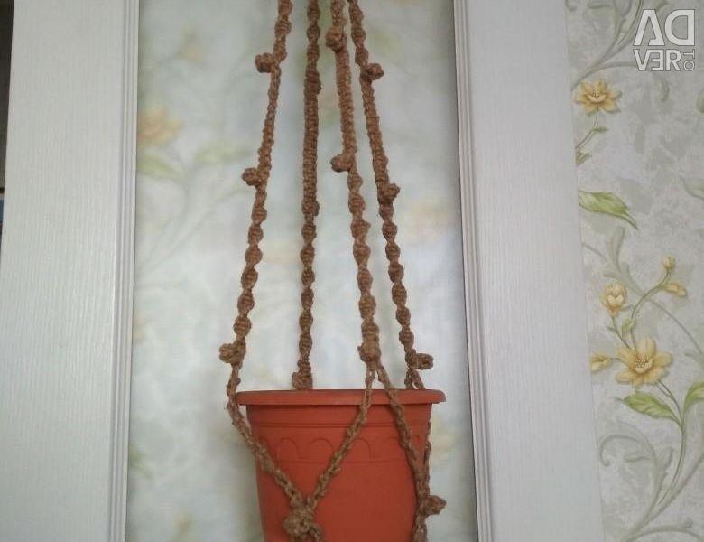 Flowerpot for macrame flowers