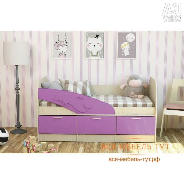 Κρεβάτι Dolphin 1,9 MDF (Belford / Sakura)