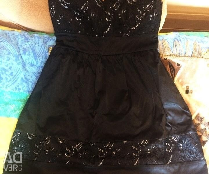 Вечернее платье(новое) атлас мини